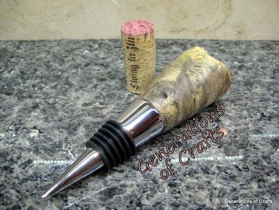 Wine Bottle Stopper - Buckeye Burl Wood