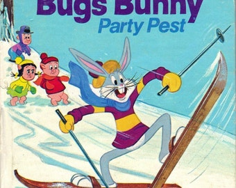 BUGS BUNNY Party Pest - Vintage 1970s Tell-A-Tale BOOK