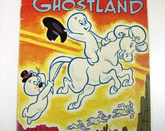 CASPER the FRIENDLY GHOST in Ghostland - Vintage Children's Wonder Book, Halloween