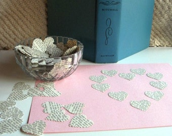 GONE With The WIND - Wedding CONFETTI- Heart Shaped Paper Punches - Pack of 500