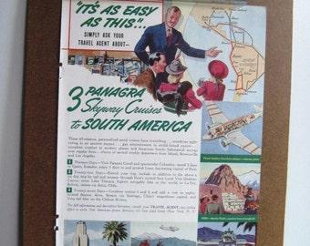 PAN AMERICAN AIRWAYS - Vintage 1941 Magazine Advertisement