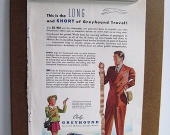 GREYHOUND BUS - Vintage 1947 Color Magazine Advertisement