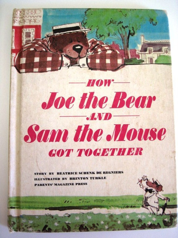 How JOE THE BEAR and Sam the Mouse Got Together - Vintage Children's Book