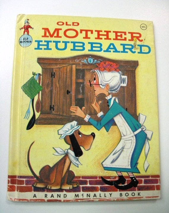 OLD MOTHER HUBBARD - Vintage Rand McNally Elf Book