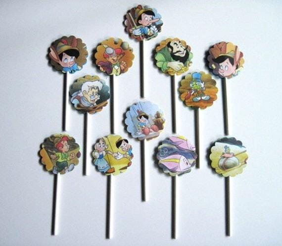 PINOCCHIO - Disney - Cupcake Toppers - Set of 12