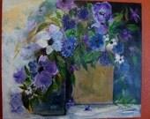 Purple Haze Flowers - Acrylic Painting