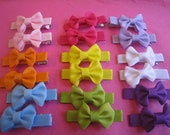 Mini Bow Farrah Clips--9 pairs of clips (spring time colors)