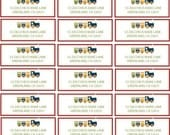 Train Party PRINTABLE Address Labels by Love The Day