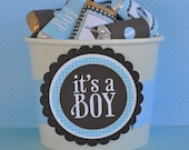 Oh Boy Baby Shower PRINTABLE Party Mini Candy Wrappers (INSTANT DOWNLOAD) by Love The Day