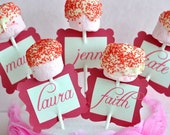 So Sweet Cupcake Birthday PRINTABLE Party Name Tags by Love The Day