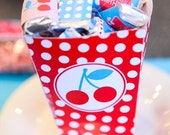 Retro Cherry Party PRINTABLE DIY Birthday Mini Candy Bar Wrappers by Love The Day