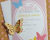 Butterfly Tea Party PRINTABLE DIY Custom Birthday Invitation from Love The Day