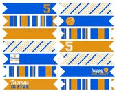 PRINTABLE PARTY FLAGS - Basketball Sports Birthday Party Collection by Love The Day