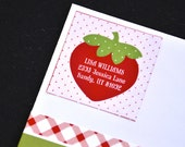 PRINTABLE ADDRESS LABELS - A Berry Strawberry Picnic Birthday Party Collection by Love The Day
