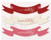 So Sweet Cupcake Party PRINTABLE Cake Banners (INSTANT DOWNLOAD) by Love The Day