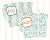 Sip & See Baby Shower PRINTABLE DIY Popcorn Box by Love The Day