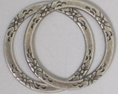 "Trinity Brass ""Floral Eternal Ring""  25 mm  Antiqued Silver Patina  (Qty 2)    115-05-AS"