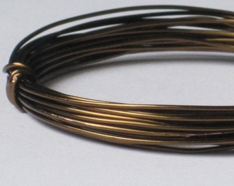 Bronze Color Jewelry Wire  -- 20 gauge    (Qty 10 ft)    65-101