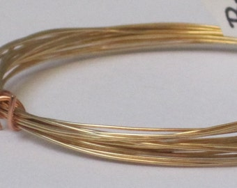 Raw Brass Wire -- 24 gauge   (Qty 10 ft)    65-111