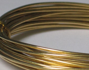 Raw Brass Wire -- 18 gauge   (Qty 10 ft)    65-119