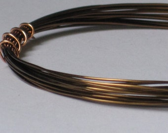 Bronze Color Jewelry Wire -- 24 gauge   (Qty 10 ft)    65-120