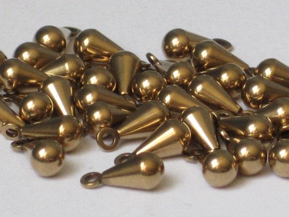 Solid Brass Small Teardrop Dangle (Qty 50)    85-104