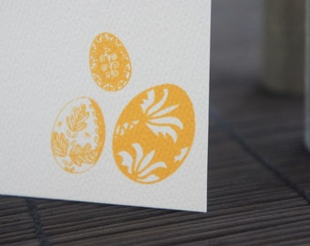 Personalized Note Cards Yellow Ochre Decorative Egg Set of 10