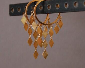 14K Gold Diamond Sunshine Earrings
