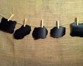 chalkboard vinyl labels. set of 5. canisters. self adhesive.