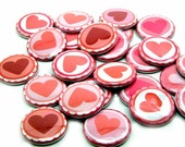 25 Heart FLAT BACK Buttons