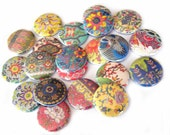 Buttons - Assorted Japanese Print (Set of 20)