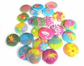 Buttons - Tropical Theme (Set of 20)