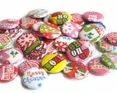 Buttons - Santa is Coming to Town (Set of 20)