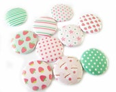 Buttons - Strawberry Fields (Set of 10)
