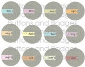 Buttons - Months of the Year (set of 12)
