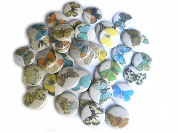 Buttons -  Butterfly (set of 20)