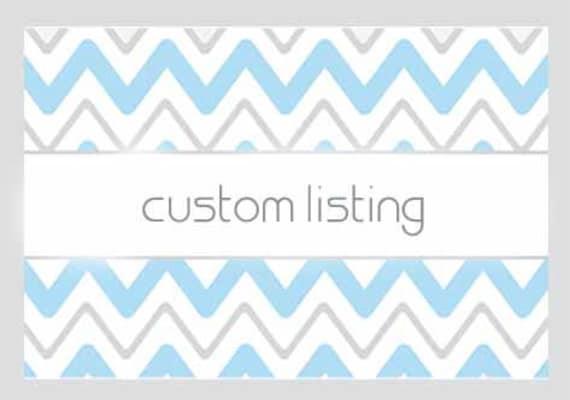 Custom Listing for Mary