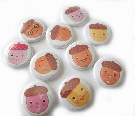 Buttons - Little Acorn (set of 10)