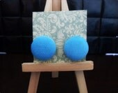 Turquoise Corduroy Earrings