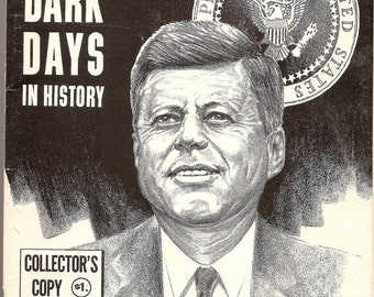 PRESIDENT KENNEDY booklet Assassination Four Dark Days in History 1963 Collectors Copy Morse Illustration front
