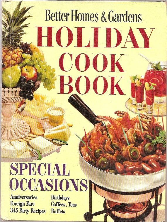 Recipes holiday cook book vintage 1968 recipes by - Better homes and gardens cookbook 1968 ...