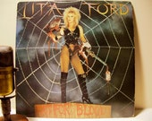 """ON SALE Lita Ford (The Runaways) - """"Out for Blood"""" (RARE Original Banned cover - Original 1983 Polygram Records with """"Stay With Me Baby"""")"""