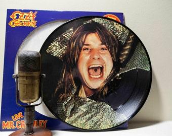 """ON SALE Vinyl Record Album Ozzy Osbourne """"Live Mr. Crowley"""" (RARE Original 1982 Jet Records 'All Live' 3-Track Ep Collectors' Ed. Picture Di"""
