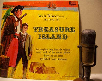 "Walt Disney Presents ""Treasure Island"" (1964 Disneyland Records) Vintage Vinyl Record LP"