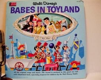 "Walt Disney ""Babes in Toyland"" Children's Vintage Vinyl Record Album (Original 1962 Disneyland Records)"