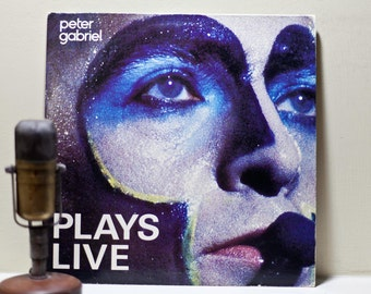 "ON SALE Peter Gabriel Vinyl Record LP Performance Art Live Classic Rock and Roll (Genesis) ""Plays Live"" (Original 1983 2Lp Geffen Records Be"