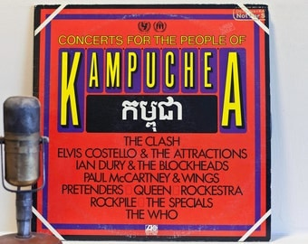 """ON SALE Vinyl Record Album, The Clash, Paul McCartney, Queen, The Who """"Concerts for the People of Kampuchea"""" (Rare DEMO 1981)"""