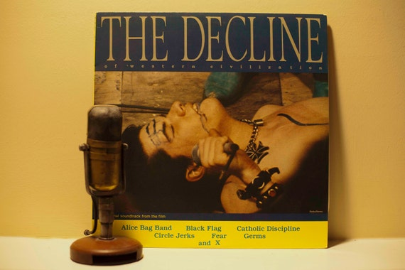 "Original Movie Soundtrack - ""The Decline of Western Civilization"" (Original 1980 Slash Records with lyric insert and with ""White Minority"")"