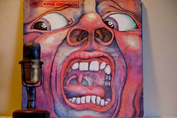"King Crimson - ""In the Court of the Crimson King"" (Original 1969 Atlantic Records gatefold with ""21st Century Schizoid Man"") - Vintage LP"