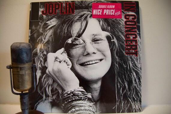 "Rare Vintage Vinyl Record LP, 'Janis Joplin' - ""Joplin in Concert"" (Super RARE Holland Import 2LP Gatefold)"